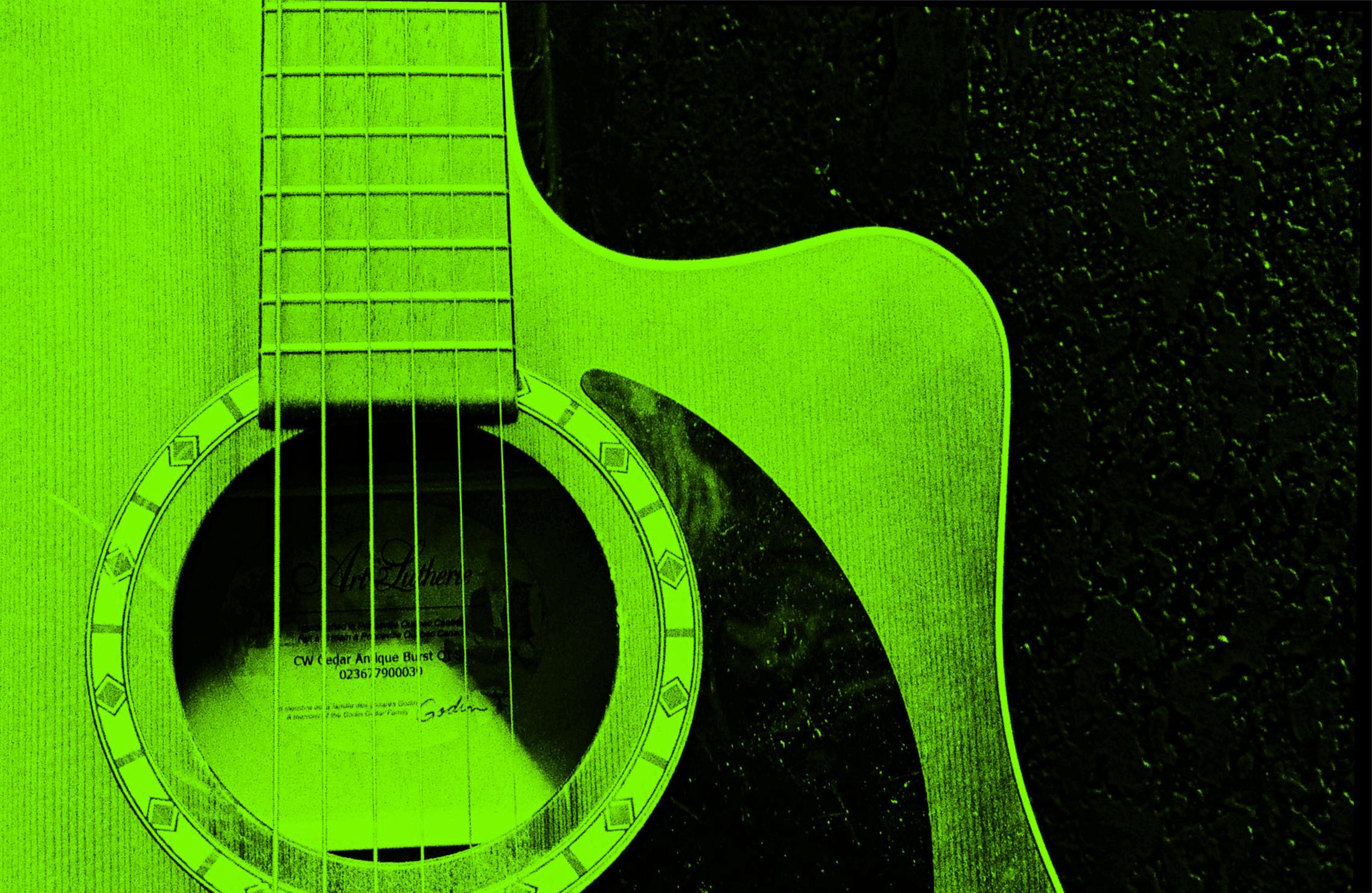 Green Acoustic Guitar